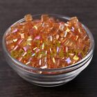 25pcs 6mm Cube Square Faceted Crystal Glass Charms Loose Spacer Beads Gold Rose
