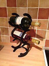 Horse Shoe 3 Tier 3 Bottle Wine Rack Stand Holder Great Christmas Present