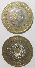 Great British England U.K 2 Pounds 2000-2015 29mm bi-metal coin