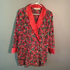 Vintage Gold Label Victoria's Secret Women's Sz Small Double Breasted Pajama Top