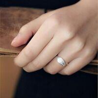 Damen Ring Echt Sterl Silber 925 Blatt Stylisch GRößenverstellbar Silberring