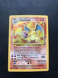 Charizard 1999pokemon base card # 4/102 HOLO Spanish