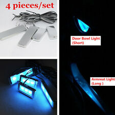 4Pcs 12v Ice Blue LED Car Interior Handle Door Bowl Atmosphere Light Decor Lamp