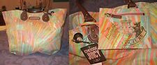 NWT JUICY COUTURE Summer SUNBURST Embellished DUSK TILL DAWN Tote + Pouch