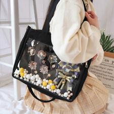 Cute Canvas Trend Transparent Pain Bag Shoulder Messenger itabag Two-dimensional