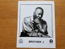 BROTHER J 8x10 BLACK & WHITE Press Photo Promotional 90's HIP HOP RAP