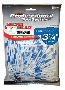 "Pride Professional Tee System Micro Head Wood Golf Tees - 3 1/4"" - 175 Count"