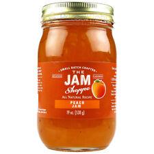 The Jam Shoppe All Natural Peach Jam 19 oz. Jar  Handcrafted Real Fruit Recipe