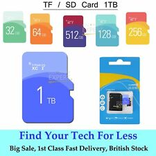 1TB Ultra Memory Storage TF Flash Card SD SDHC Disk + Free Adaptor UK