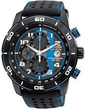 Citizen Eco-Drive CA0467-03E Mens Primo Chronograph Black Leather Watch