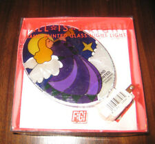 All Is Bright Angel Night Light Hand-Painted Glass Figi Joan Baker Designs New