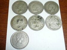 1943,1968,1952,1968,1949,1942,& 1951   Canada Silver Quarters