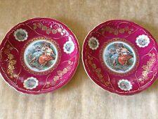 Pair Of German Mitterteich Bavaria Porcelain Plates