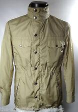 AQUASCUTUM beige con cappuccio pieghevole SUPER Orton Aquamac breve Parka Stile Cappotto Di Pioggia 40r