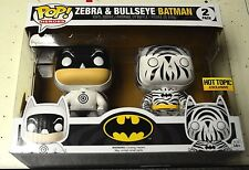 Funko Pop Zebra and Bullseye Batman Hot Topic Exclusive!!!