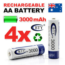 4x AA battery batteries Bulk Nickel Hydride Rechargeable NI-MH 3000mAh 1.2V