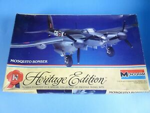 Monogram #6064 Mosquito British Bomber Model Airplane Kit 1:48 Opened K
