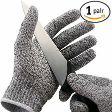 Pair Cut Resistant Gloves No Cry High Performance Level 5 Protection Anti Slash