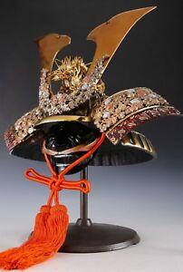 Largest Size Samurai Helmet -Great Shogun Kabuto- with a Mask Tsushima