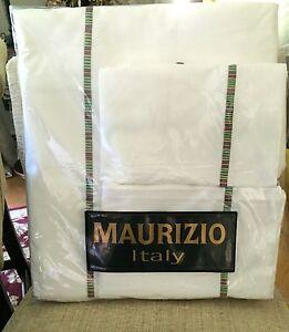 NEW MAURIZIO ITALY EGYPTIAN COTTON 3PC KING DUVET COMFORTER COVER SET