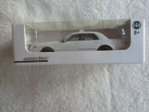 2013 Greenlight:  Blank Unmarked White Ford Crown Victoria Police Car NIP