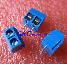 10pcs KF301-2P 2 Pin Plug-in Screw Terminal Block Connector 5.08mm Pitch J2