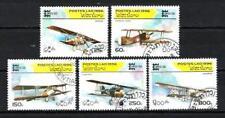 Avions Laos (41) série complète de 5 timbres oblitérés