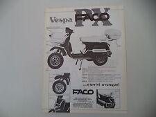 advertising Pubblicità 1984 FACO e VESPA PX 125 E