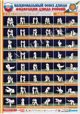 Posters JUDO. Orange  belt  1 poster.The technique of judo.