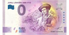 0 Euro JURAJ JÁNOŠÍK Souvenir Banknote Slowakei 2020-1