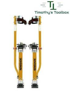 "Renegade Magnesium Drywall Stilts 24""-40"""