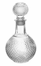 Vintage Crystal Clear Glass Scotch Whisky Decanter with Ball Stopper, 32 oz