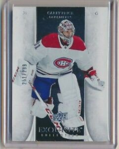2019-20 Exquisite Collection Carey Price /299 Montreal Canadiens