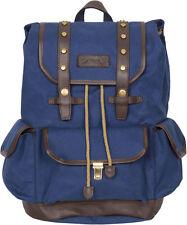 "Stylish Rakuda 17"" Ocean Blue Companion Vintage Canvas Travel Backpack Day Bag"