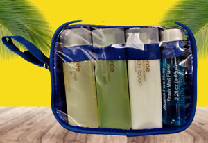 """16 Piece Travel Set With Zip Bag-Hair 2 in1-Lotion-Mouthwash-Gel- """"NEW"""""""