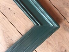 """Vintage Painted Wood Frame Wide Green Country Shabby Chic Fits 11 7/8"""" X 16 7/8"""""""