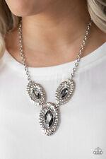 Paparazzi jewelry trio smoky marquise cut rhinestones Necklace w/earring
