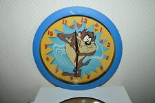 HORLOGE MURALE TAZ LONEY TUNES   RELOJ/CLOCK  NEUF VINTAGE 2001