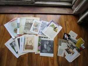 Vintage Junk Journal paper pack- 50 items-Scrap boking antique pages, ephemera