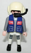 PLAYMOBIL 3130 3924 4478 PILOTE HELICOPTERE MEDICAL SECOURS SAUVETAGE