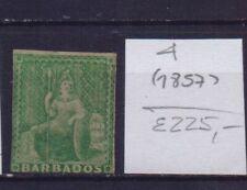 ! Barbados 1857.  Stamp. YT#4. €225.00 !