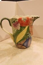 1-Fitz & Floyd Vegetable Garden Pitcher 1 3/4 Qt--Excellent!