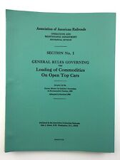 Association American Railroads Loading Commodities Open Top Cars Locomotive Q863