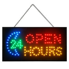 Bright Led Neon 24 Hours Open Sign for Business Displays Light Flashing Club Pub