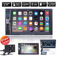 6.6''  Double 2DIN DVD Player Bluetooth MP4/Audio/Video/USB Rearview Camera Top
