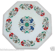 """12"""" Marble Coffee Custom Table Top Inlay Marquetry Floral Art Furniture Decor"""