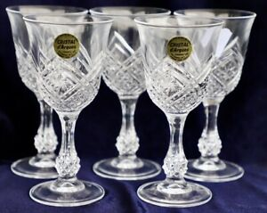 5 Neuville by Cristal D'arques - Durand Lead Crystal Sherry Cordial Glasses