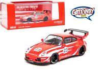 1/64 Tarmac Works Porsche 993 RWBWU #23 Diecast Model Car Red T64-017-WU