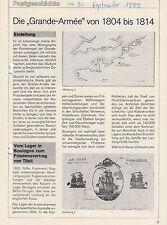 """Philat. Literatur """"Grande-Armée"""" 1804 - 1814, Entstehung """"Grand Empire"""" von 1812"""