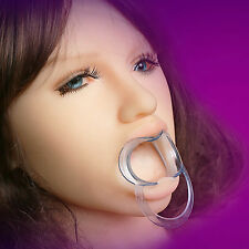 Clear Mouth Opener Oral Fixation Gag Stuffed Oral Sex Adult Games Toy For Women